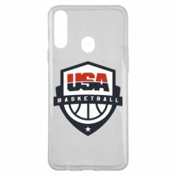 Чехол для Samsung A20s USA basketball