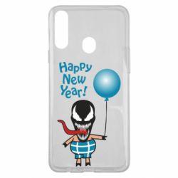 Чохол для Samsung A20s Venom pig with a ball wishes a happy new year
