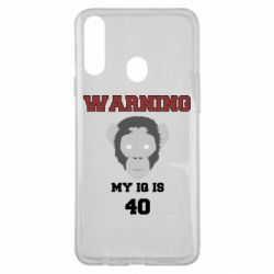 Чехол для Samsung A20s Warning my iq is 40