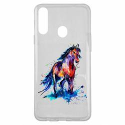 Чехол для Samsung A20s Watercolor horse