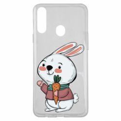 Чохол для Samsung A20s Winter bunny