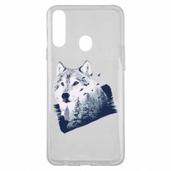 Чехол для Samsung A20s Wolf and forest