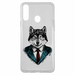 Чехол для Samsung A20s Wolf in costume