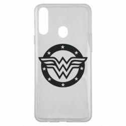 Чохол для Samsung A20s Wonder woman logo and stars
