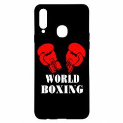 Чехол для Samsung A20s World Boxing