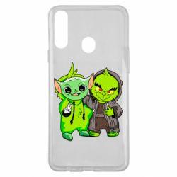 Чехол для Samsung A20s Yoda and Grinch