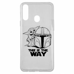 Чехол для Samsung A20s Yoda and Mandalore Helmet