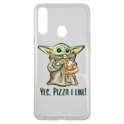 Чехол для Samsung A20s Yoda and pizza