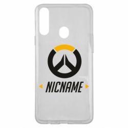 Чехол для Samsung A20s Your Nickname Overwatch