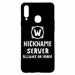 Чохол для Samsung A20s Your nickname World of Warcraft
