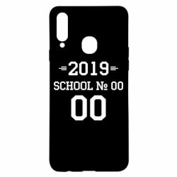 Чехол для Samsung A20s Your School number and class number