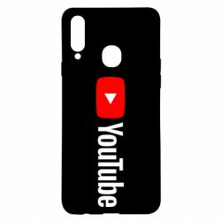 Чехол для Samsung A20s Youtube logotype