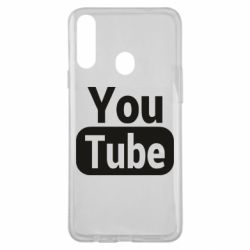 Чохол для Samsung A20s Youtube vertical logo