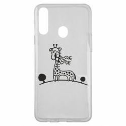 Чохол для Samsung A20s жираф