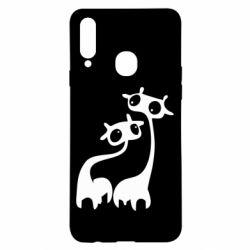 Чохол для Samsung A20s Жирафи