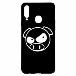 Чехол для Samsung A20s Злая свинка