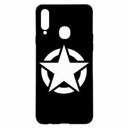 Чохол для Samsung A20s Зірка Капітана Америки