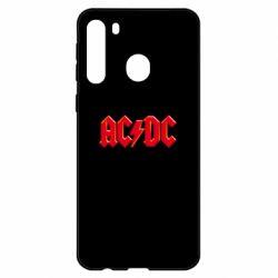 Чехол для Samsung A21 AC/DC Red Logo