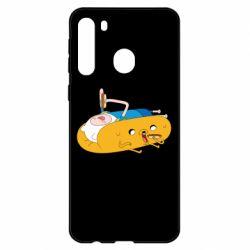 Чехол для Samsung A21 Adventure time 4