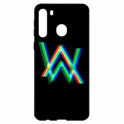 Чехол для Samsung A21 Alan Walker multicolored logo