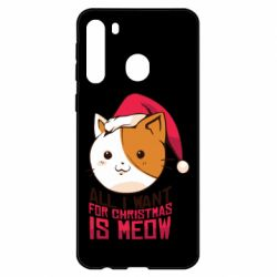 Чехол для Samsung A21 All i want for christmas is meow