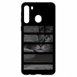 Чехол для Samsung A21 All seeing cat