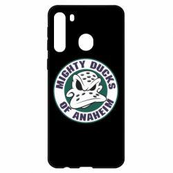 Чехол для Samsung A21 Anaheim Mighty Ducks Logo