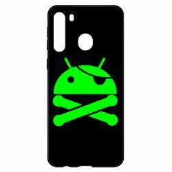 Чехол для Samsung A21 Android Pirate