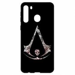 Чехол для Samsung A21 Assassins Creed and skull