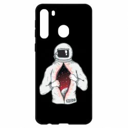 Чехол для Samsung A21 Astronaut with spaces inside