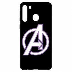 Чехол для Samsung A21 Avengers and simple logo