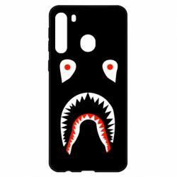 Чехол для Samsung A21 Bape shark logo