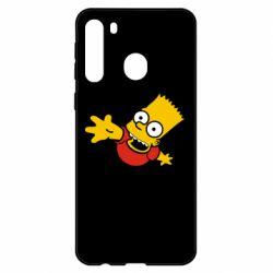 Чехол для Samsung A21 Барт Симпсон