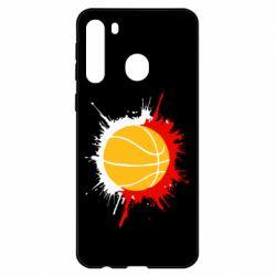 Чехол для Samsung A21 Баскетбольный мяч