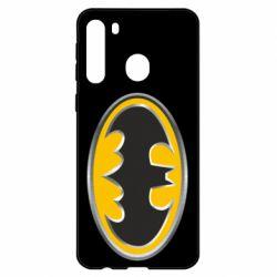 Чехол для Samsung A21 Batman Gold Logo