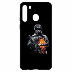 Чехол для Samsung A21 Battlefield Warrior