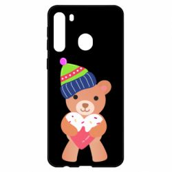 Чехол для Samsung A21 Bear and gingerbread