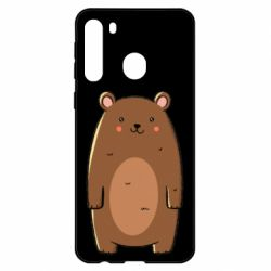 Чехол для Samsung A21 Bear with a smile