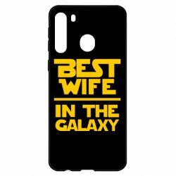 Чехол для Samsung A21 Best wife in the Galaxy