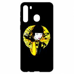 Чехол для Samsung A21 Black and yellow clown
