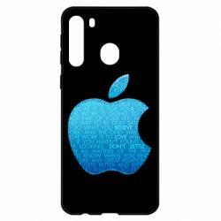 Чехол для Samsung A21 Blue Apple