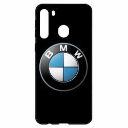 Чехол для Samsung A21 BMW Logo 3D