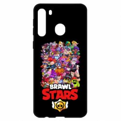 Чехол для Samsung A21 Brawl Stars all characters art