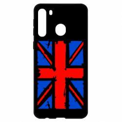Чехол для Samsung A21 Британский флаг