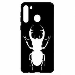 Чехол для Samsung A21 Bugs silhouette
