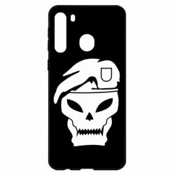 Чехол для Samsung A21 Call of Duty Black Ops logo