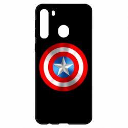 Чехол для Samsung A21 Captain America 3D Shield