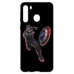 Чехол для Samsung A21 Captain america with red shadow