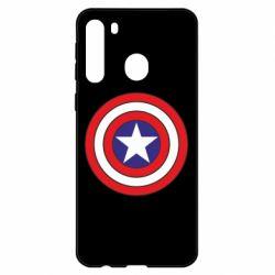 Чехол для Samsung A21 Captain America