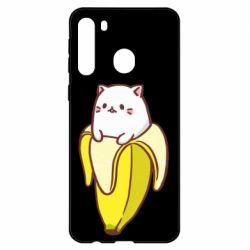 Чехол для Samsung A21 Cat and Banana